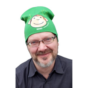 Lue Monki, grønn voksen - hvit bakgr