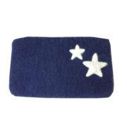 Pung filt stor blå med stjerner