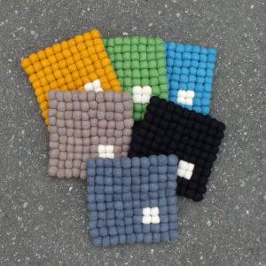 Grytekluter firkantet med dotter_seks ulike