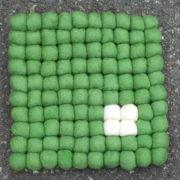 Gryteunderlag firkantet med dotter_grønn
