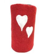 Rød med to hjerter