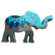 Elefant i tre BLÅ