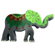 Elefant i tre GRØNN