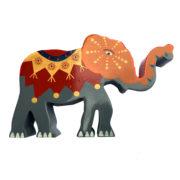 Elefant i tre RØD
