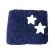 Pung filt liten blå med stjerner