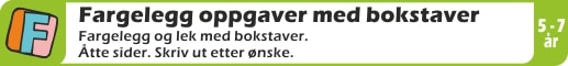 FARGELEGG-BOKSTAVER