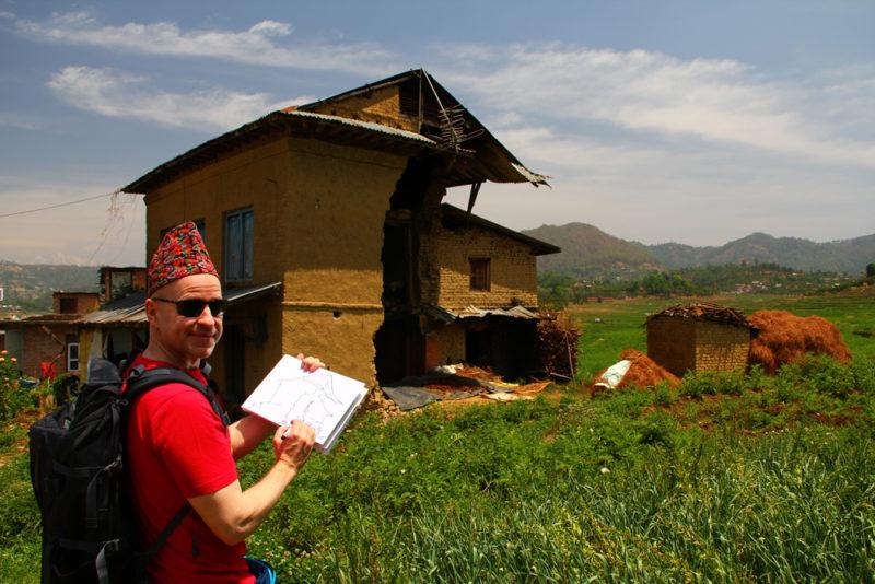 3 - Hus ødelagt av jordskjelv 1000
