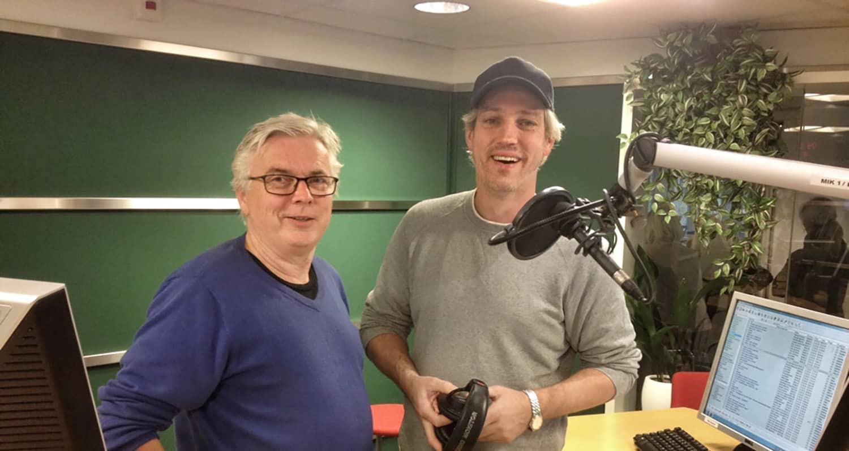 Dag Endal og programleder Martin Jahr i Ekko på NRK P2.