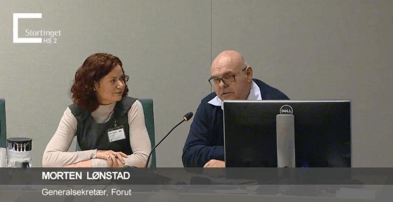Mørten Lønstad i Stortingets høring om bistandsbudsjett
