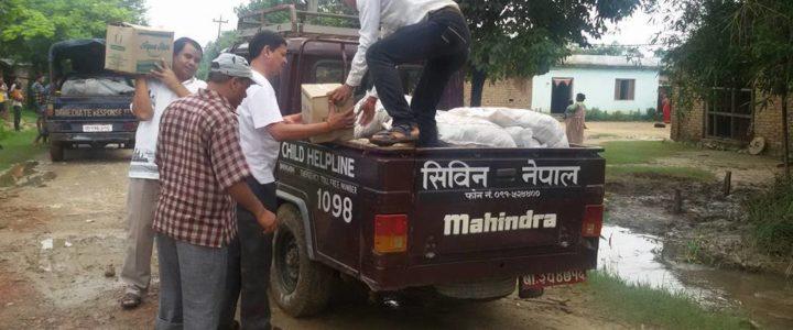 Nødhjelp i Nepal etter flom