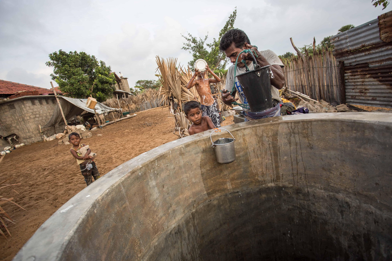 Sivatas klarer å ta opp vann fra brønnen selv.